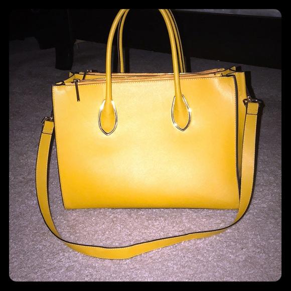 H M Bags   Mustard Color Hm Tote   Poshmark 22c6a00cd4